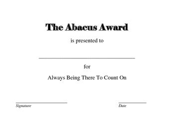 Cullen Abacus Award