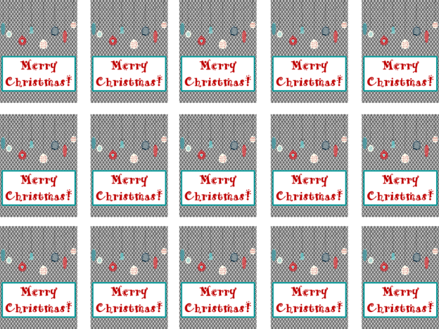 Brag Tags Can't Wait Until Christmas FREEBIE PNG