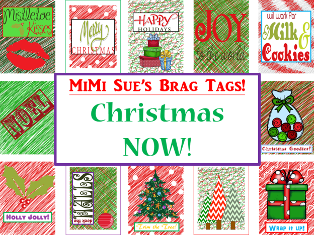 Brag Tags Christmas NOW AD PNG