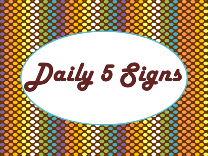 Daily 5 Sign Chocolate Rave AD PNG