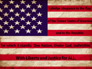 Pledge of Allegiance US FLAG PNG