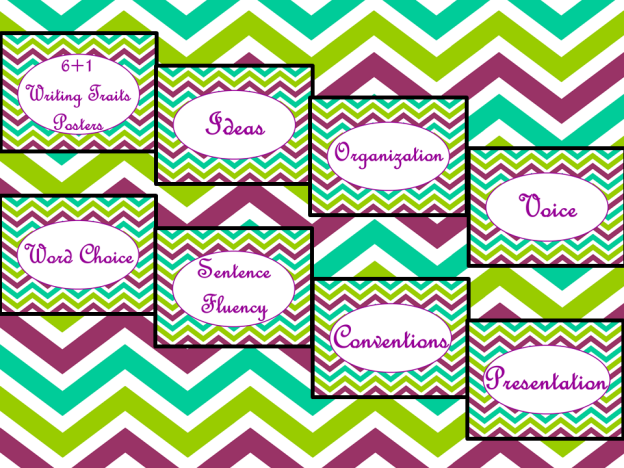 6+1 Posters AD Purple Chevron PNG