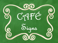 CAFE Posters Green Chalkboard AD PNG
