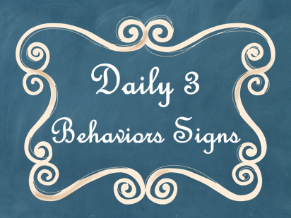 Daily 3 Math Behaviors Signs Blue Chalkboard AD PNG
