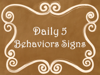 Daily 5 Behavior Signs Ombre Chalkboard AD PNG